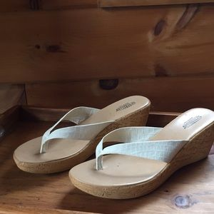 Shoes - Size 9 Off white wedge sandal